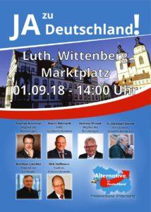 Kundgebung: Ja zu Deutschland! @ Marktplatz Wittenberg