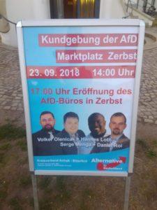 Kundgebung in Zerbst @ Marktplatz Zerbst