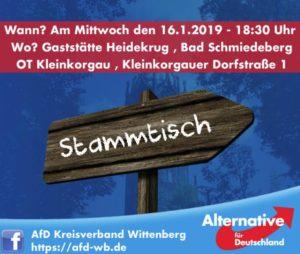 Stammtisch Bad Schmiedeberg/Klein Korgau @ Gaststätte Heidekrug, OT Kleinkorgau