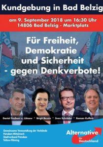 Kundgebung Bad Belzig - Blick über die Landesgrenze @ Marktplatz Bad Belzig