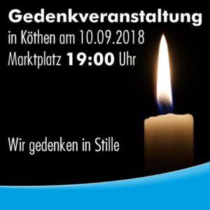 Gedenkveranstaltung in Köthen @ Marktplatz Köthen