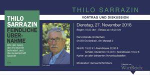 Thilo Sarrazin, Feindliche Übernahme - Blick über die Landesgrenze @ Remontehalle Großenhain