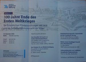 100 Jahre Ende der Ersten Weltkrieges @ Zitadelle Spandau