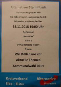 """Alternativer Stammtisch - Blick über die Landesgrenze @ Restaurant """"Ratskeller"""""""