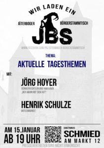 Jüterboger Bürgerstammtisch - Blick über die Landesgrenze @ Gasthaus Schmied