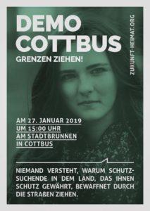 Demo Cottbus, Grenzen ziehen! - Blick über die Landesgrenze @ Am Stadtbrunnen