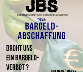 Jüterboger Bürgerstammtisch: Bargeldabschaffung - Blick über die Landesgrenze @ Gaststätte Klosterhof