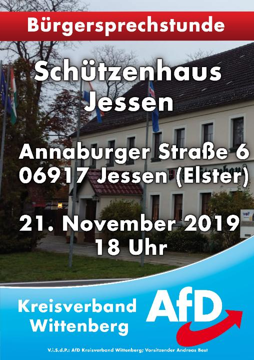 Bürgersprechstunde Jessen @ Schützenhaus Jessen