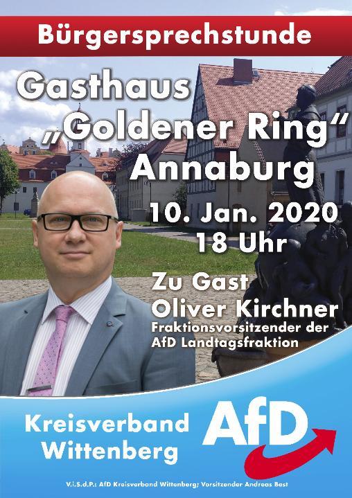 "Bürgersprechstunde Annaburg @ Gasthaus ""Goldener Ring"""