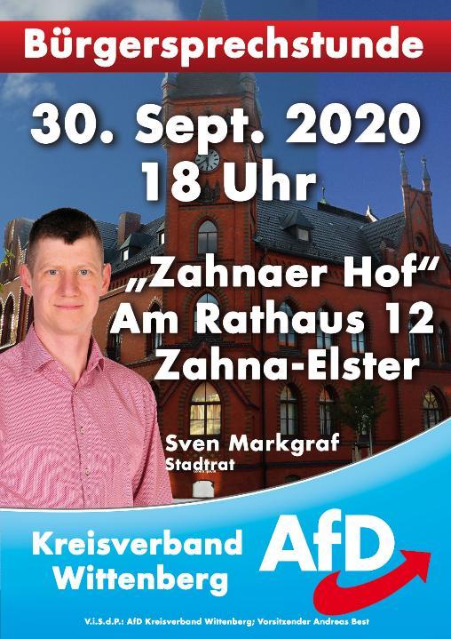 Bürgersprechstunde Zahna @ Zahnaer Hof