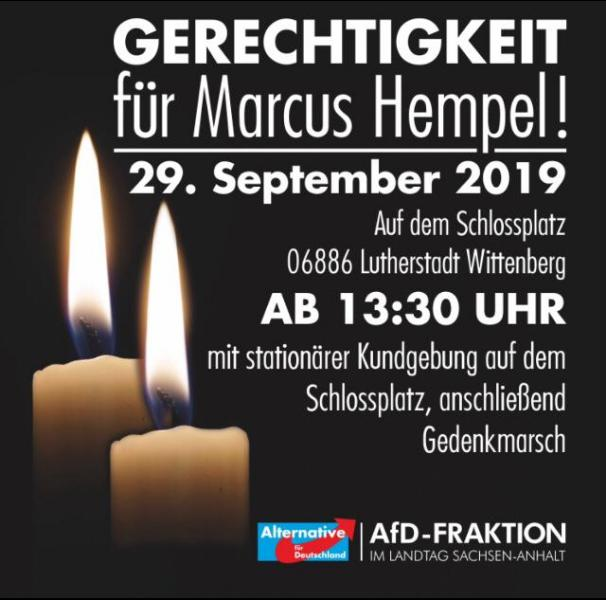 Gerechtigkeit für Marcus Hempel! @ Schlossplatz Wittenberg