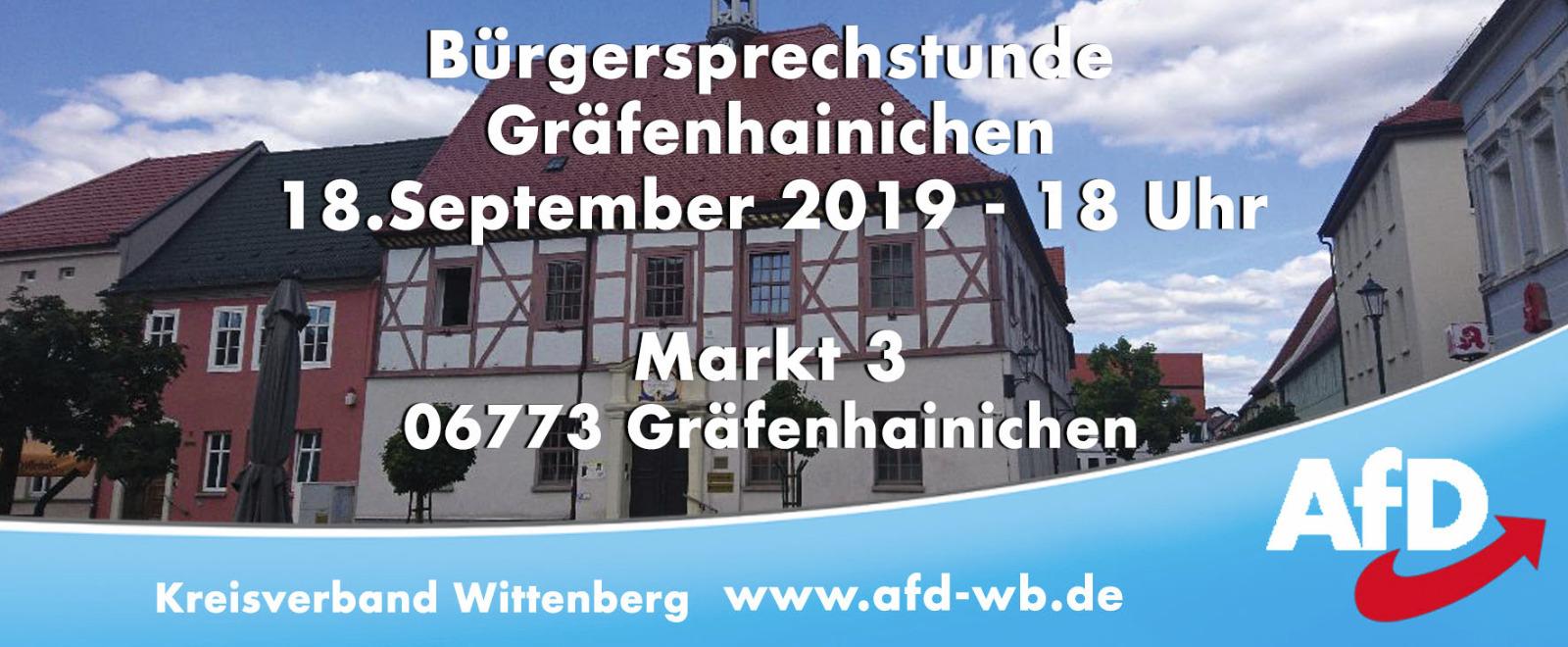 Bürgersprechstunde Gräfenhainichen @ Markt 3