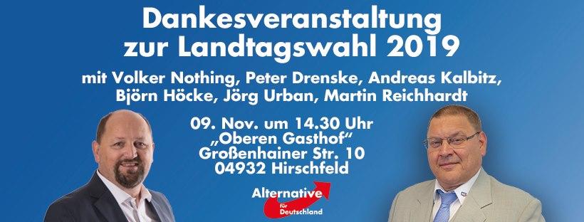 "Dankesveranstaltung zur Landtagswahl - Blick über die Landesgrenze @ ""Oberen Gasthof"""