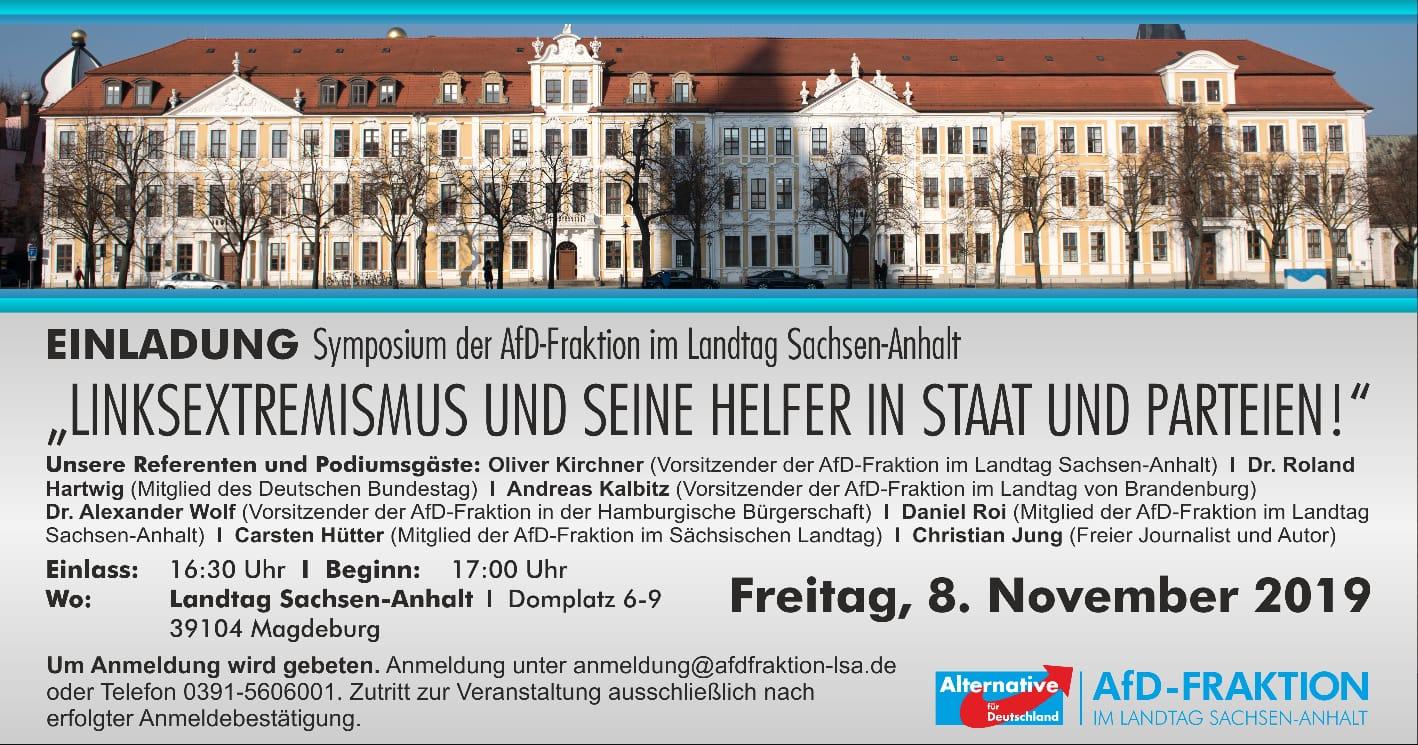 Symposium der AfD-Fraktion im Landtag Sachsen-Anhalt zum Linksextremismus @ Domplatz 6-9