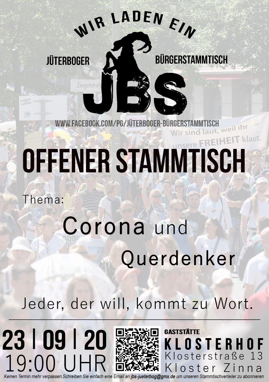 Jüterboger Bürgerstammtisch - Blick über die Landesgrenze @ Gaststätte Klosterhof