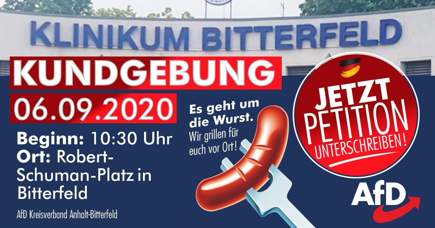 Kundgebung in Bitterfeld - Rettet die Frauenklinik! @ Robert-Schumann-Platz