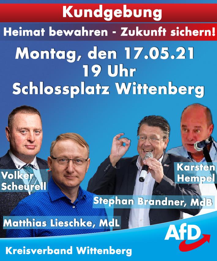 Kundgebung Heimat bewahren - Zukunft sichern! @ Schlossplatz Wittenberg