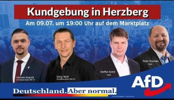 Kundgebung in Herzberg - Blick über die Landesgrenze @ Marktplatz Herzberg