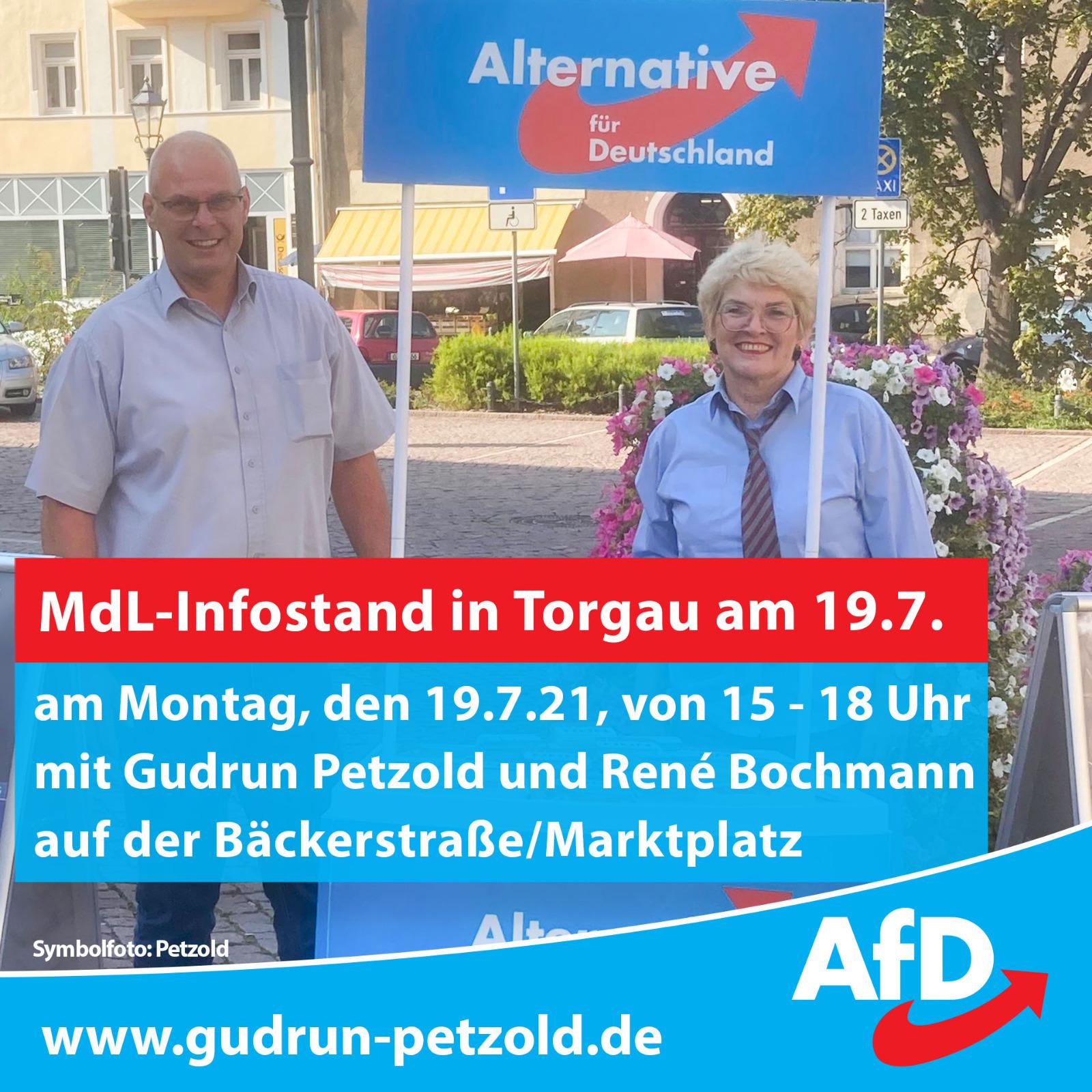 Infostand in Torgau - Blick über die Landesgrenze @ Bäckerstraße/Marktplatz