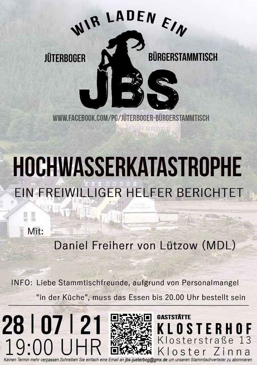 Hochwasserbericht beim JBS - Blick über die Landesgrenze @ Gaststätte Klosterhof